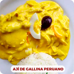 Ají de pollo peruano